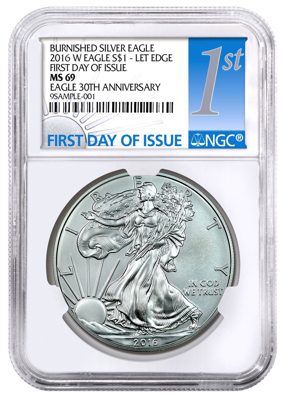 2016 W Burnished Silver Eagle Ngc Ms69 Fdi Moderncoinmart