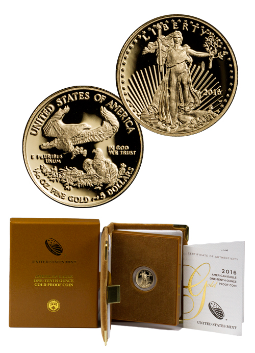 2016 W 1 10 Oz Gold American Eagle Proof 5 Gem Proof