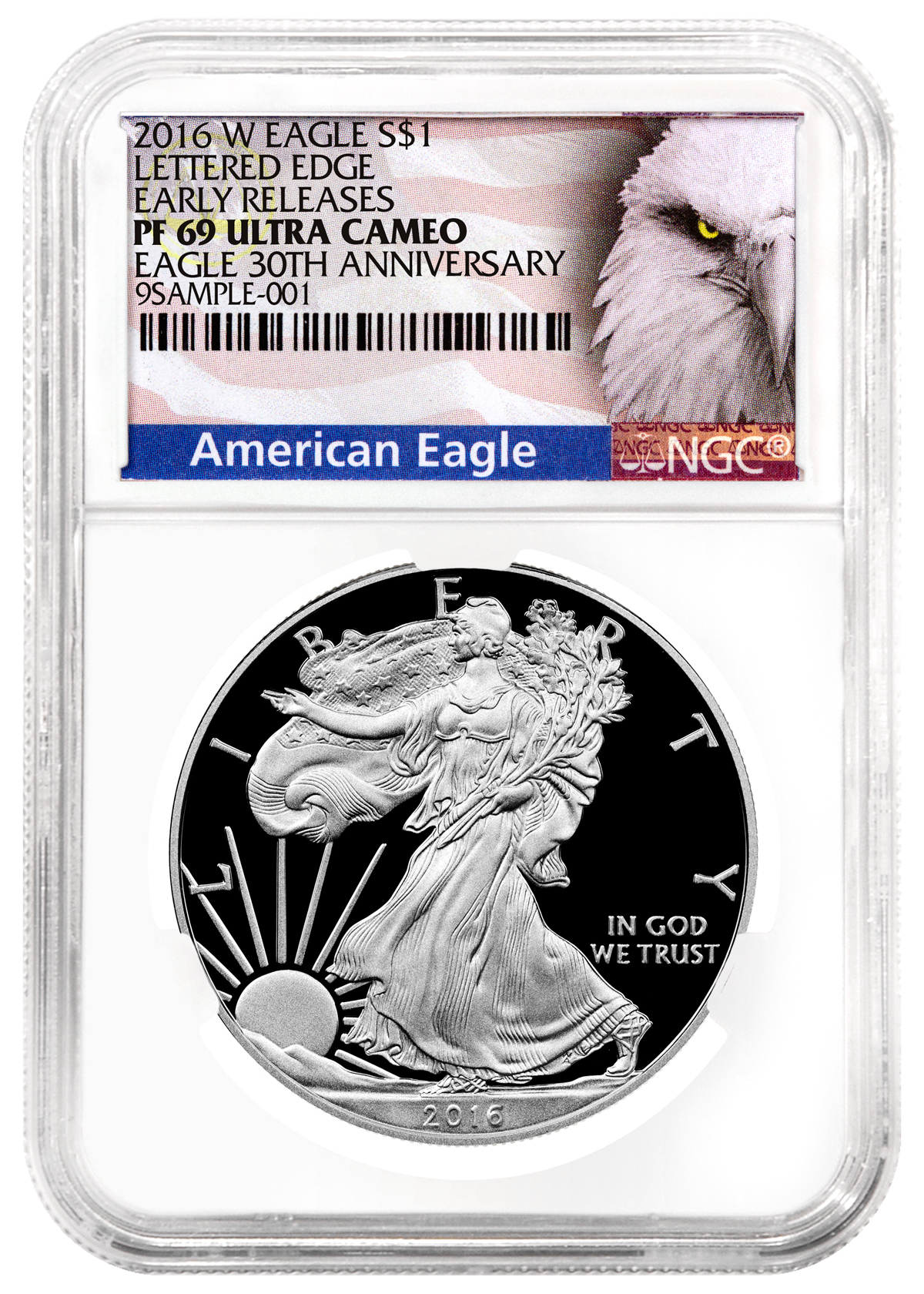 2016-W Proof American Silver Eagle NGC PF69 UC ER (Exclusive American Eagle Label)