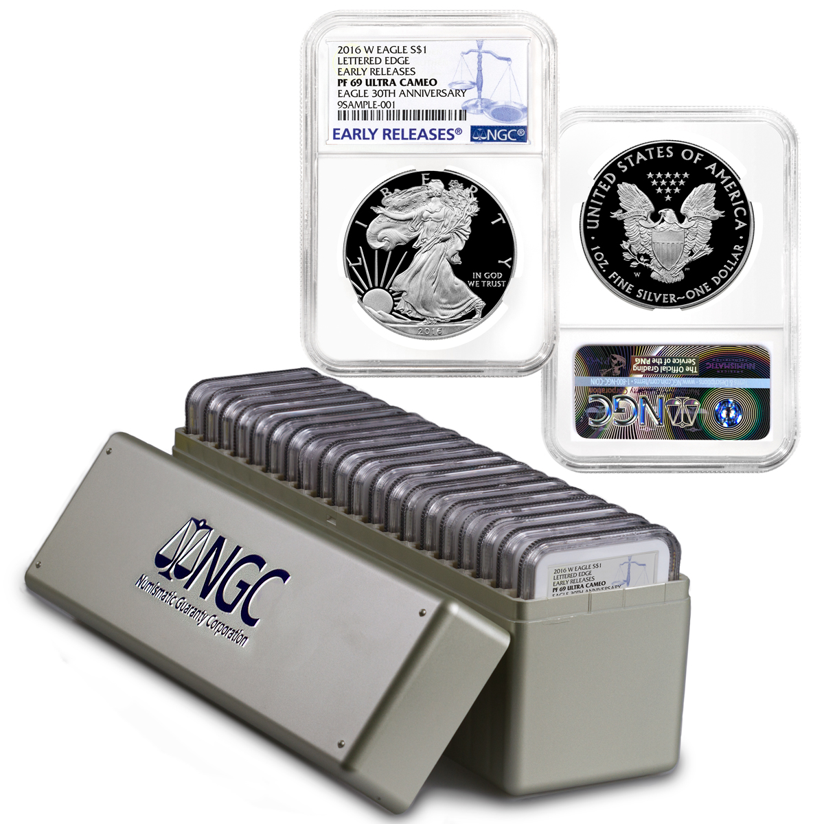 2016-W Proof American Silver Eagle - Box of 20 - NGC PF69 UC Early Releases