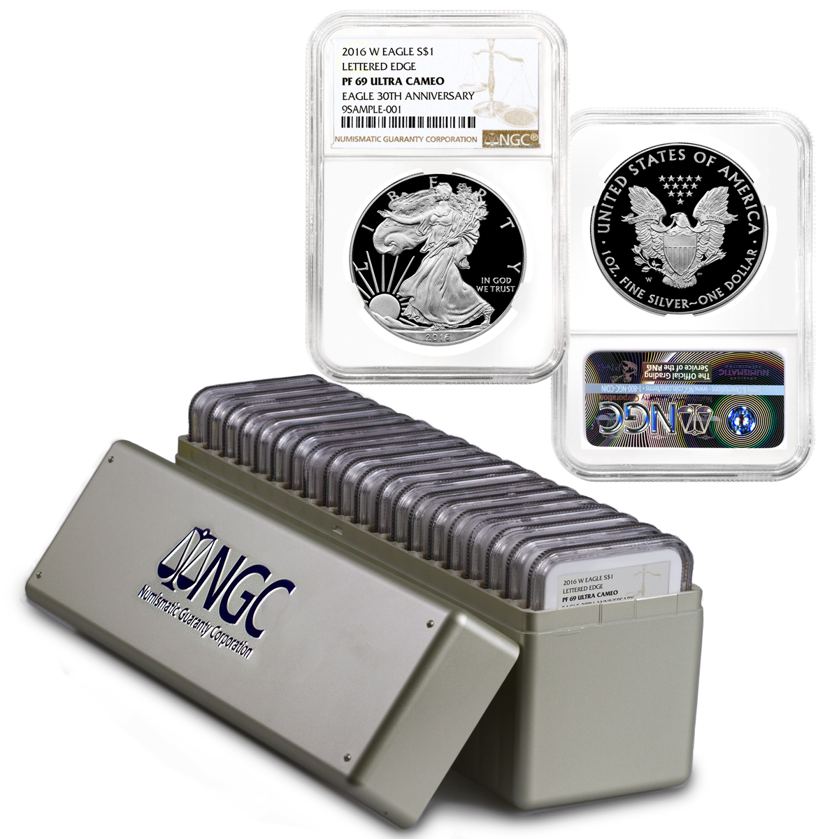 2016-W Proof American Silver Eagle - Box of 20 - NGC PF69 UC