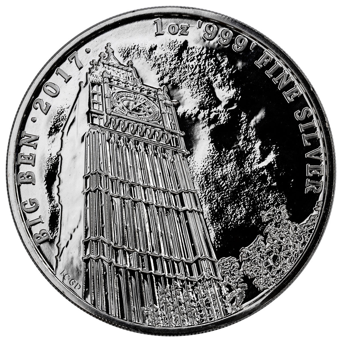 2017 Great Britain Landmarks of Britain - Big Ben 1 oz Silver £2 Coin GEM BU Original Mint Capsule
