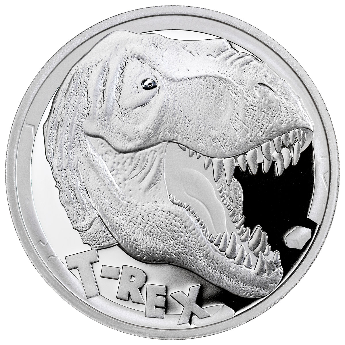 2017 Tuvalu T-Rex - 5 oz Silver Proof $5 Coin GEM Proof OGP