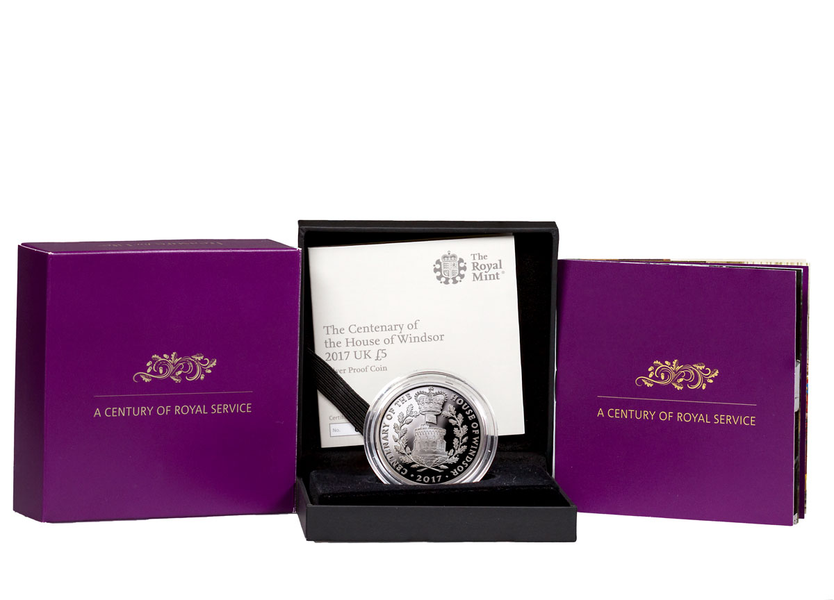 2017 Great Britain House of Windsor Centenary - Silver Proof Coin GEM Proof OGP