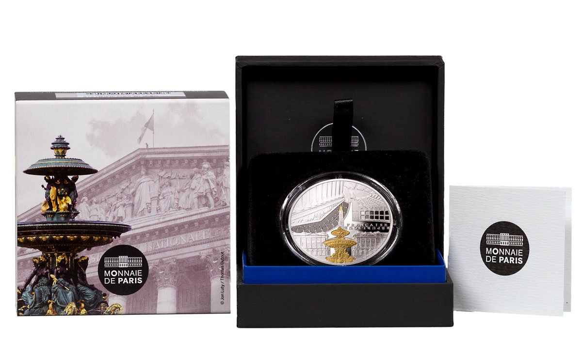 2017 France UNESCO World Heritage Site - Banks of the Seine: National Assembly and Concorde Silver Gilt Proof €10 Coin GEM Proof OGP