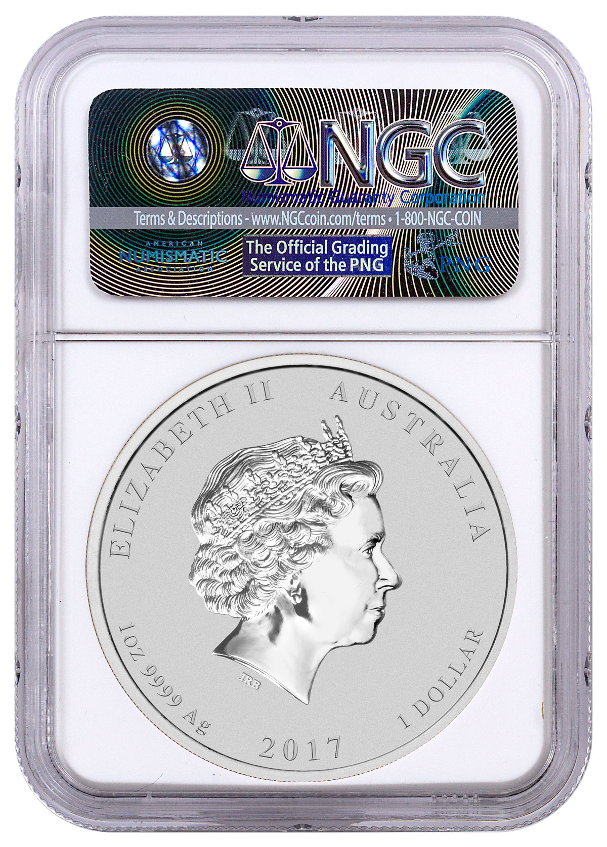 2017 Australia Year of Rooster 1 oz Gilt Silver Lunar S2 $1 NGC MS70 SKU50411