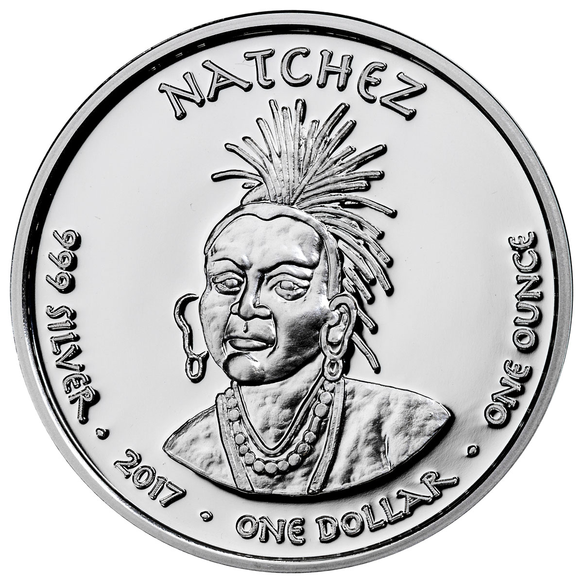 2017 Native American Silver Dollar - Louisiana Natchez - Black Bear 1 oz Silver Proof Coin GEM Proof Original Mint Capsule