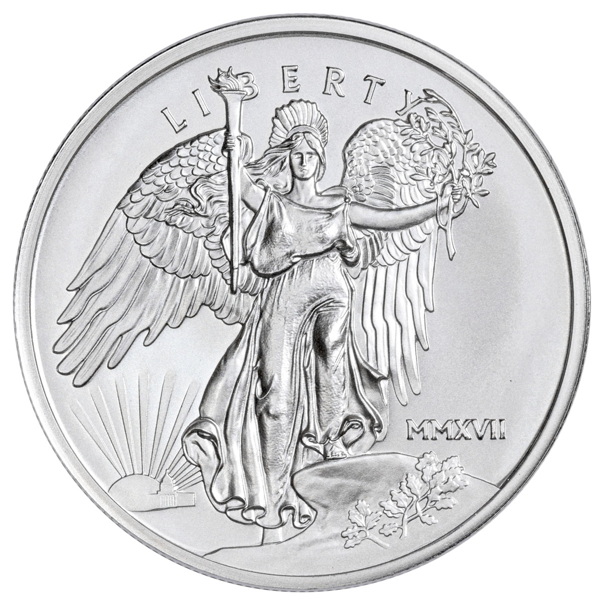 2017 Saint-Gaudens Winged Liberty 1 oz Silver Medal GEM BU