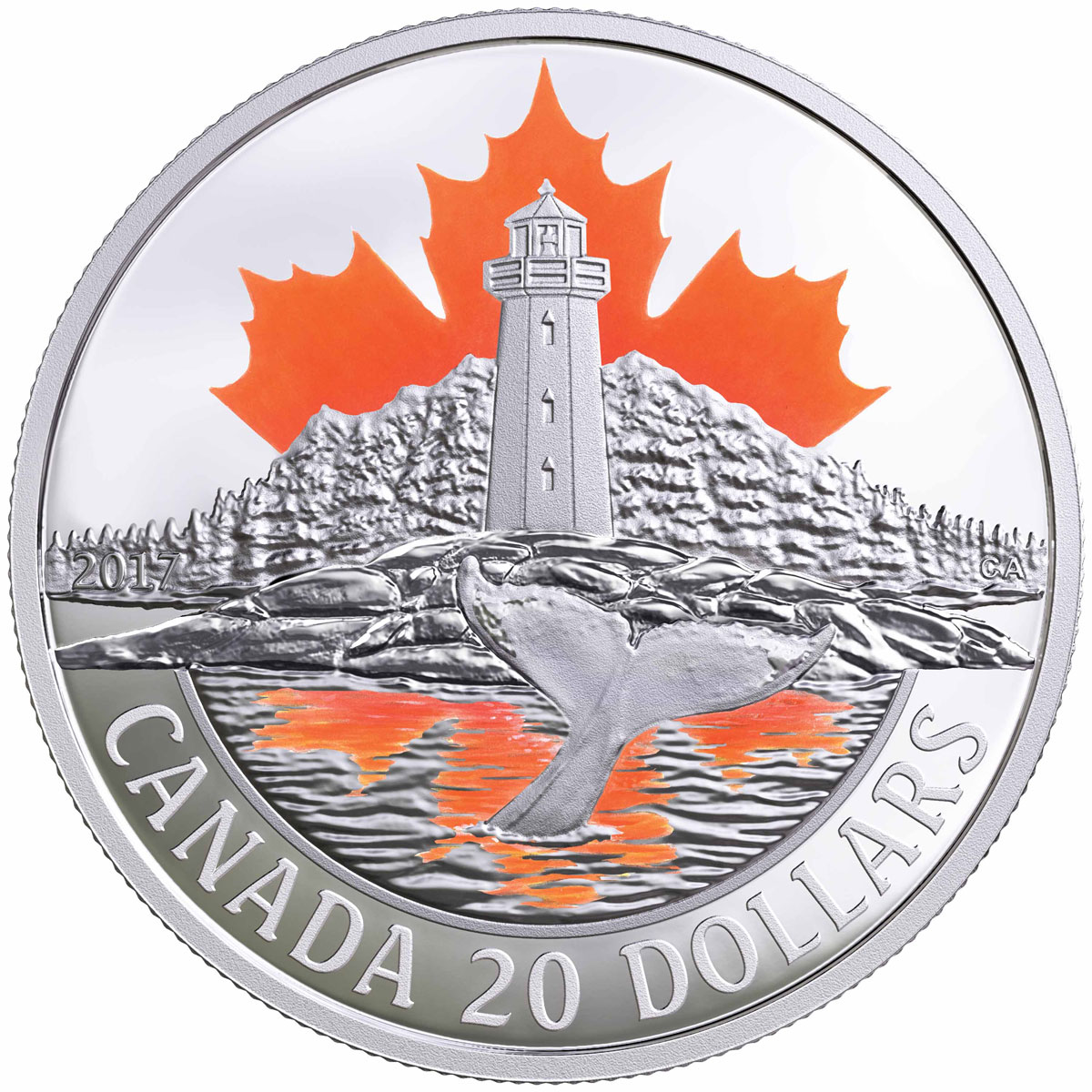 2017 Canada's Coast - Atlantic Coast 1 oz Silver Colorized Proof $20 Coin GEM Proof OGP
