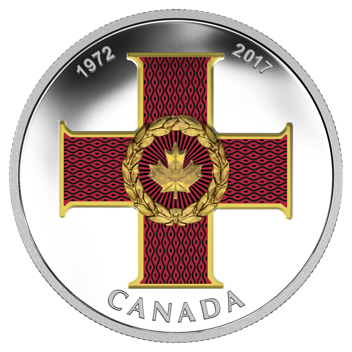 2017 Canada Canadian Honors - Cross of Valor 1 oz Silver Colorized Proof $20 Coin GEM Proof OGP