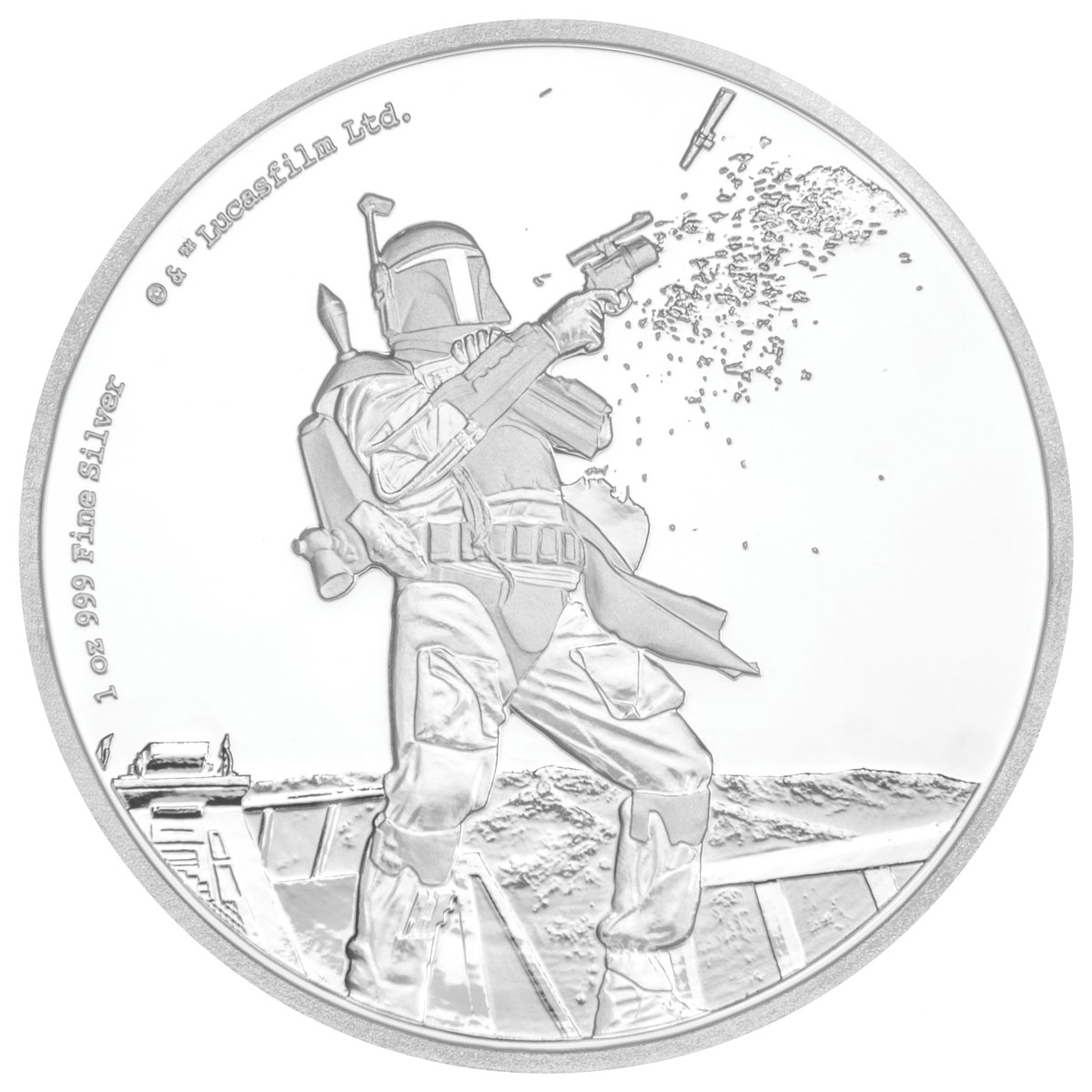 2017 Niue Star Wars Classic - Boba Fett 1 oz Silver Proof $2 Coin GEM Proof OGP