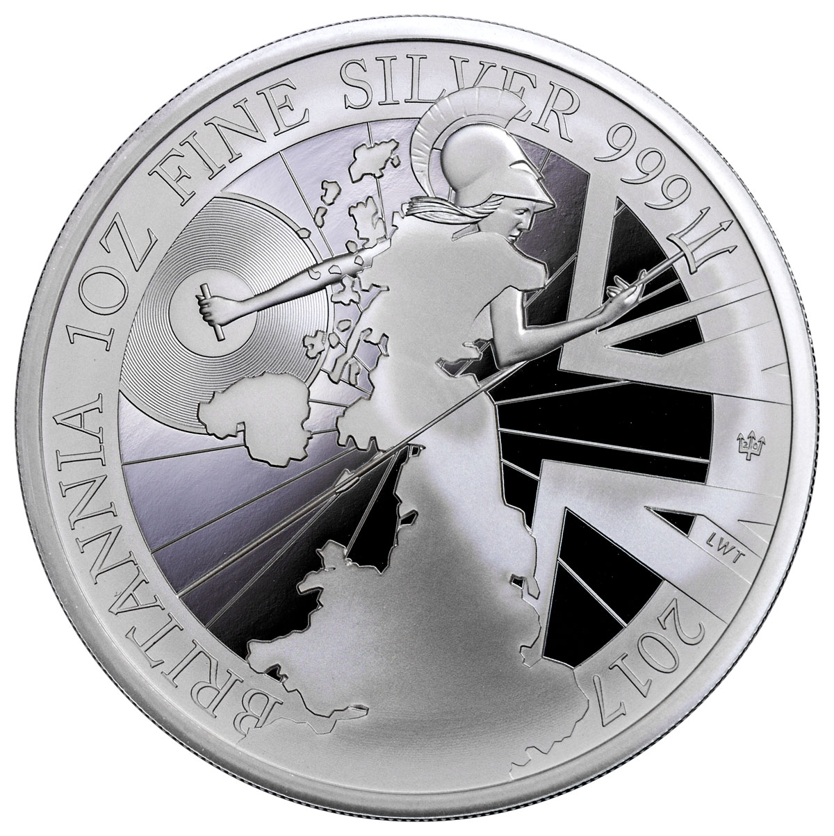 2017 Great Britain 1 Oz Silver Britannia Proof 163 2 Coin Gem