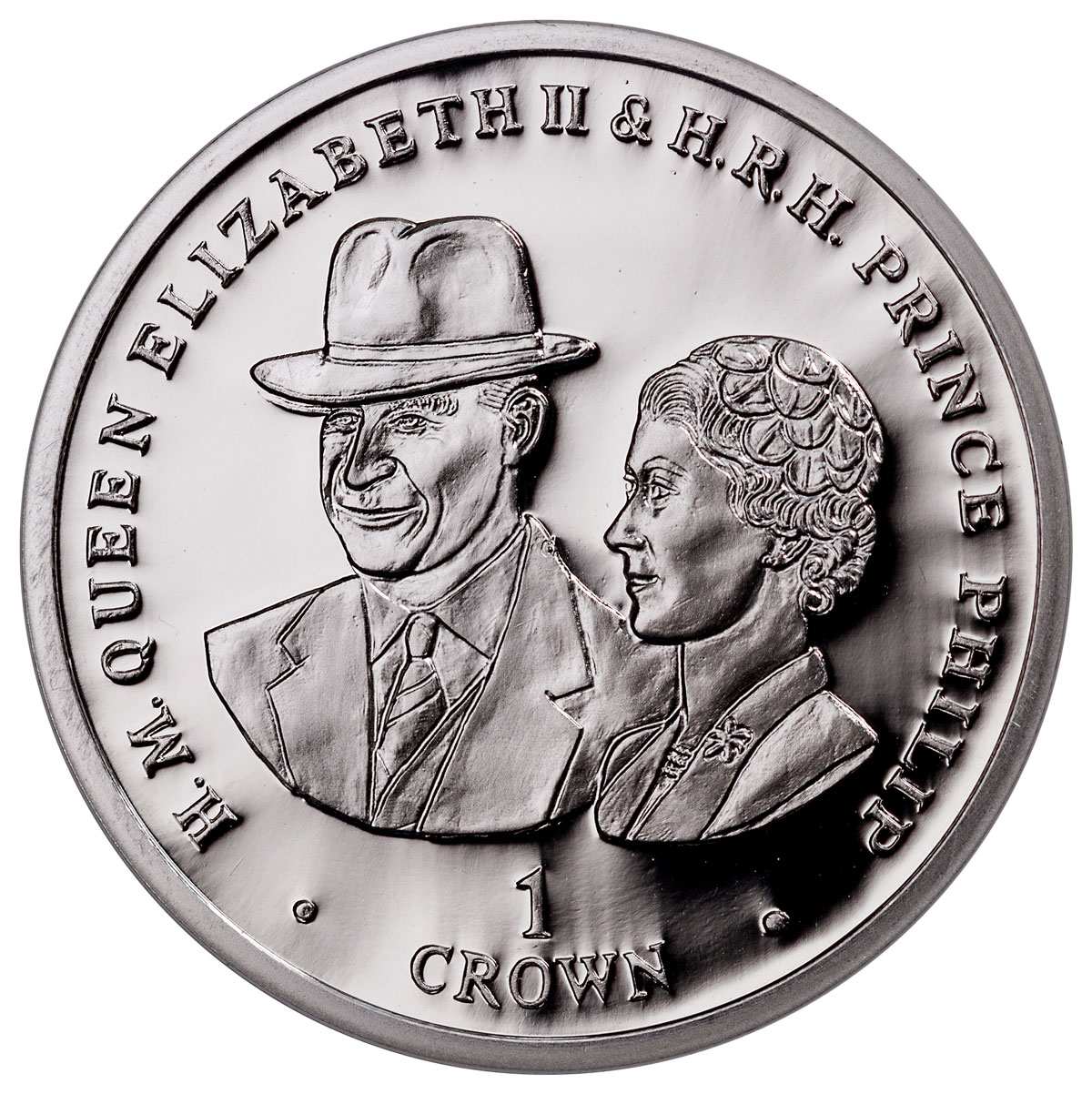 2017 Falkland Islands 70 Years of Queen Elizabeth II & Prince Phillip - The Goodwood Race 1 oz Silver £2 Coin GEM BU