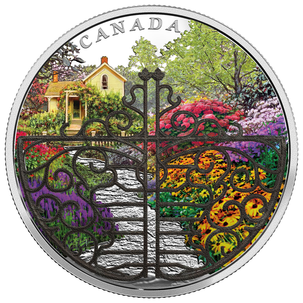 2017 Canada Gate to the Enchanted Garden 2 oz Silver Proof $30 Coin With White Bronze Filigree Gate GEM Proof OGP