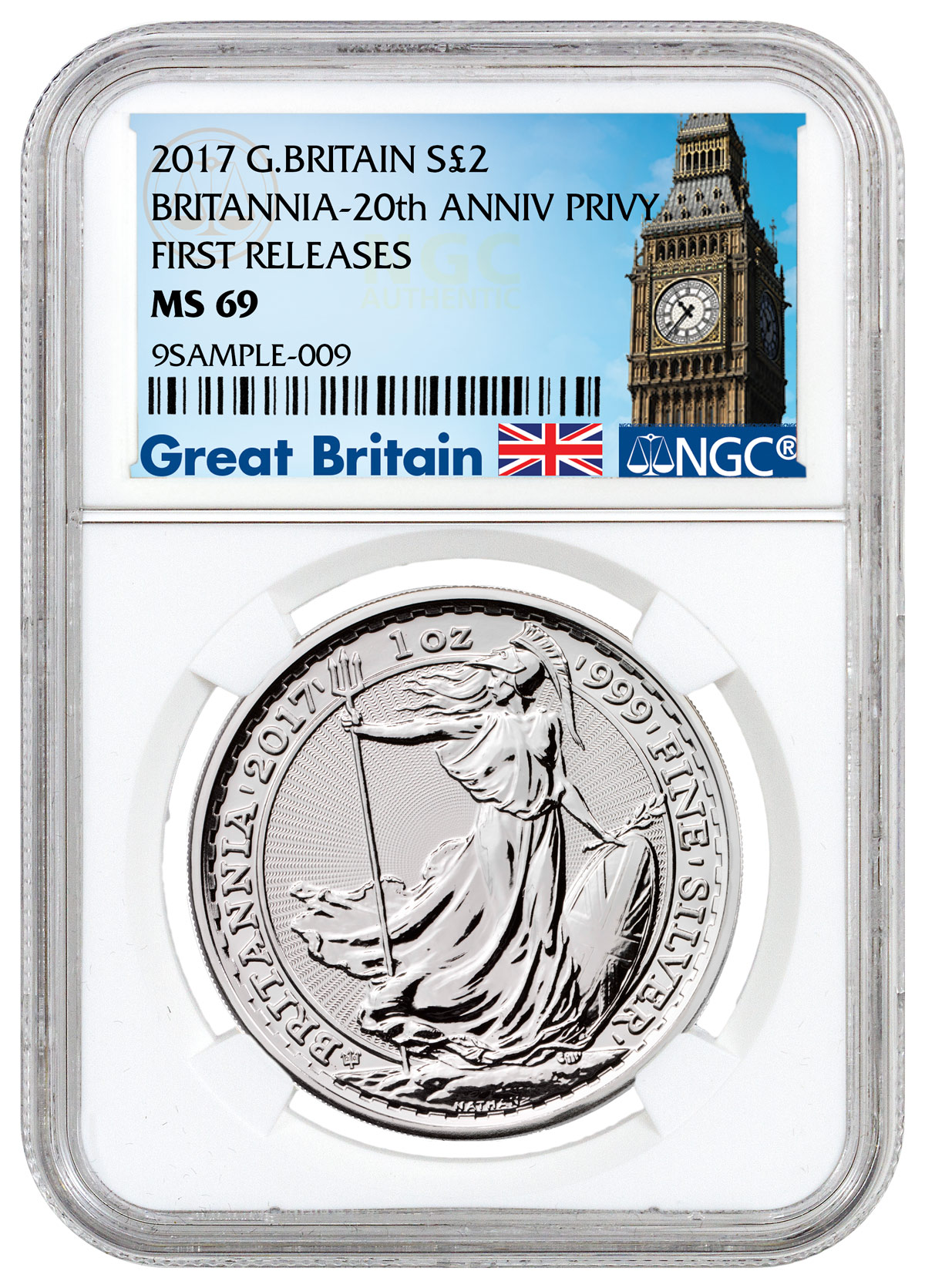 2017 Great Britain 1 Oz Silver Britannia 20th
