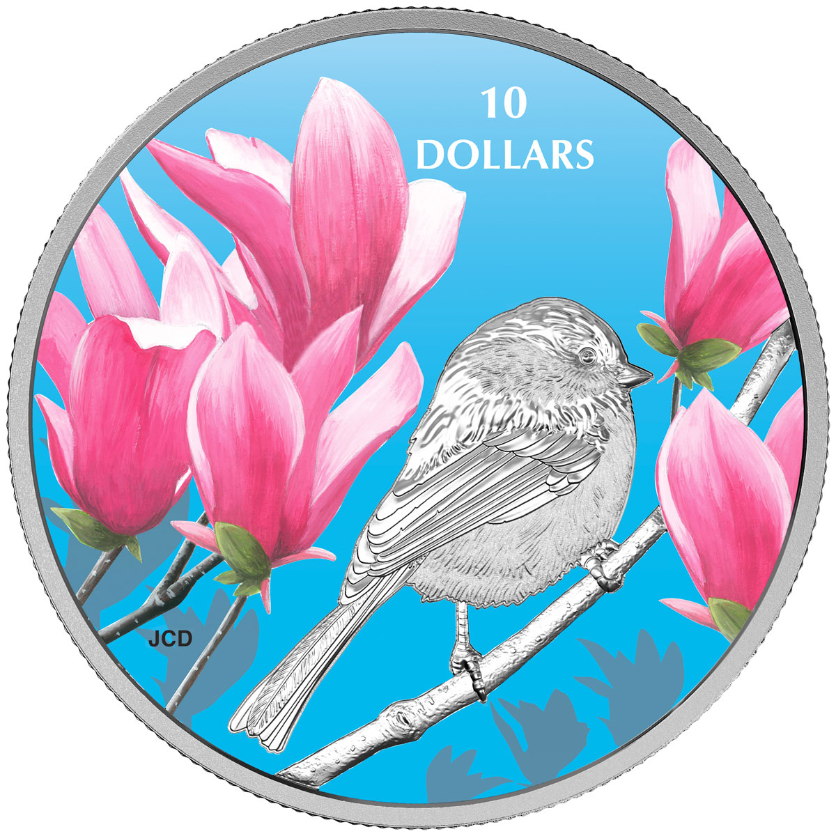2017 Canada Birds Among Nature's Colors - Chickadee 1/2 oz Silver Colorized Proof $10 Coin GEM Proof (OGP)