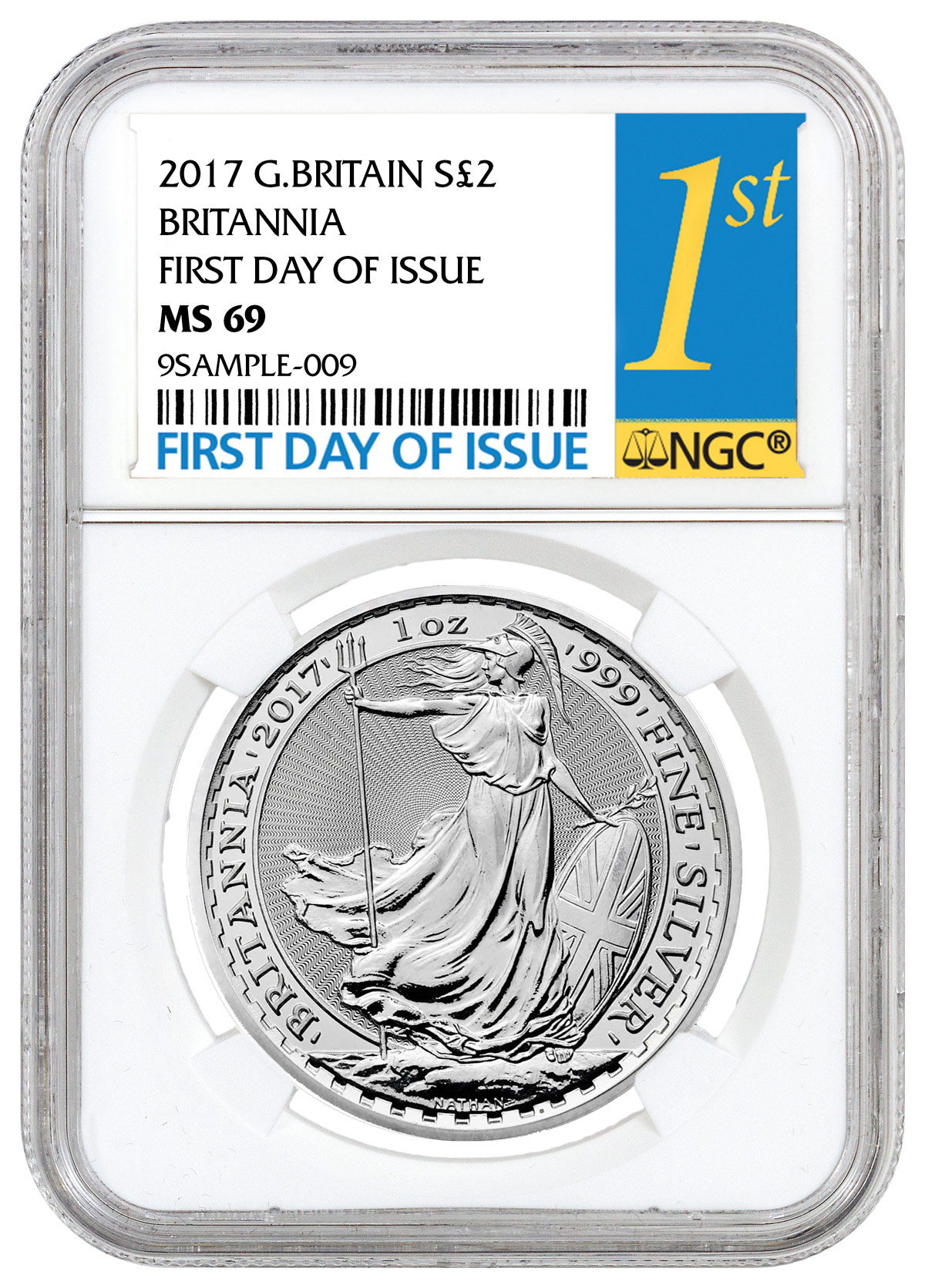 2017 Great Britain 1 oz Silver Britannia - £2 Coin NGC MS69 FDI