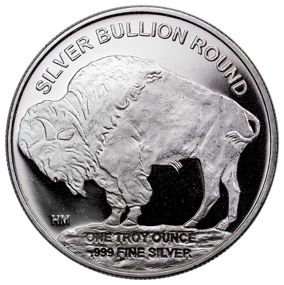 2018 Highland Mint Buffalo Nickel Design 1 Oz Silver Round