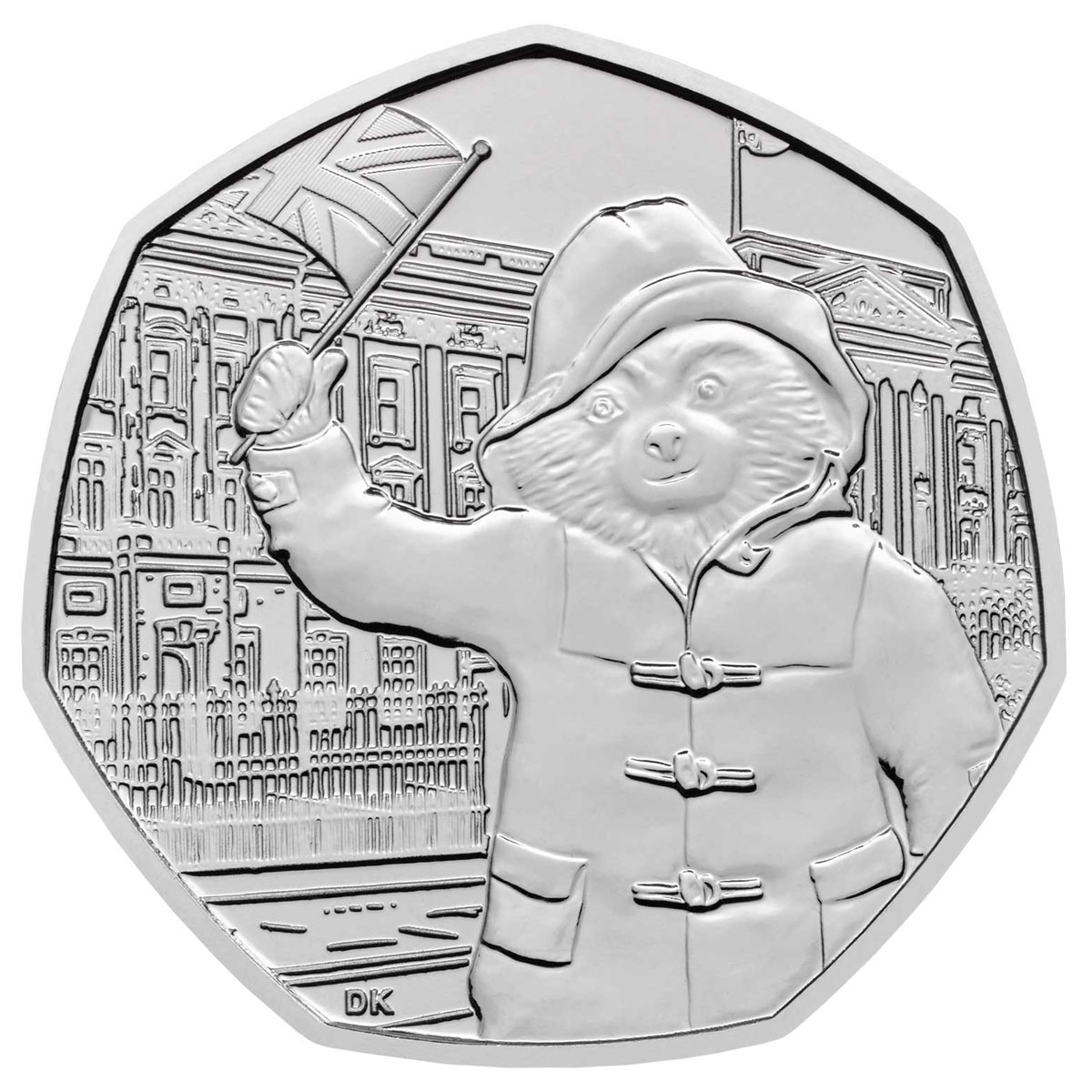 2018 Great Britain Paddington Bear - At Buckingham Palace 8 g Cupronickel 50p Coin GEM BU