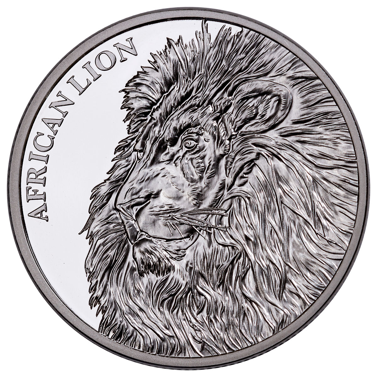 2018 Republic of Chad African Lion 1 oz Silver Proof Fr5,000 Coin GEM Proof Display Box