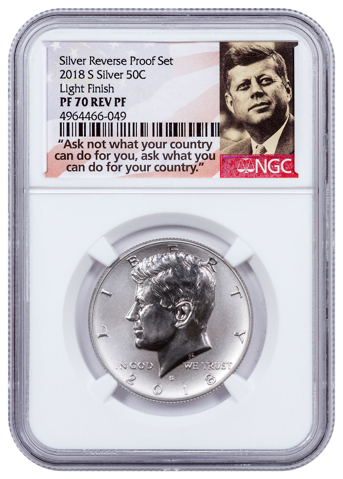 2018 S Reverse Proof Dime NGC PR-70 In Stock SILVER Trolley Label