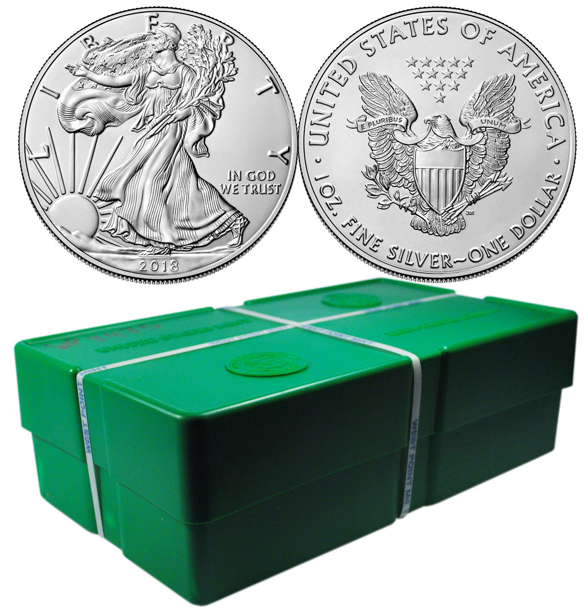 Monster Box Of 500 2018 American Silver Eagle Gem Bu