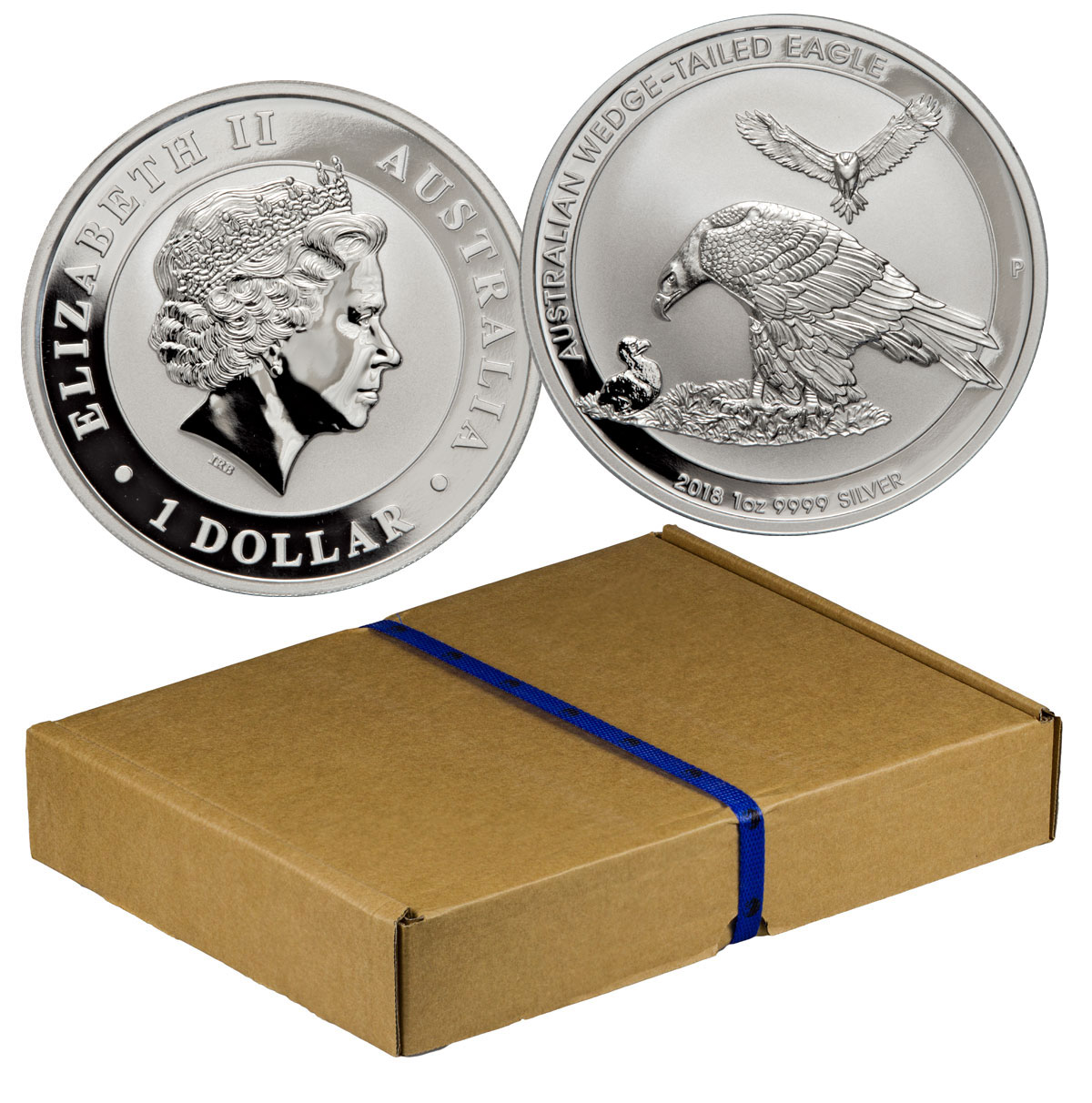 Monster Box of 100 - 2018-P Australia 1 oz Silver Wedge-Tailed Eagle $1 Coins GEM BU