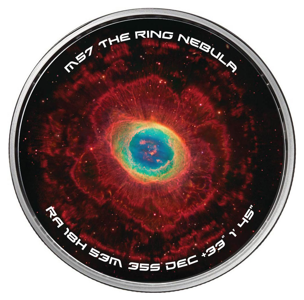 (2018) Osborne Mint Galaxies and Nebulae Spinners - The Ring Nebula 1 oz Silver Round GEM Proof