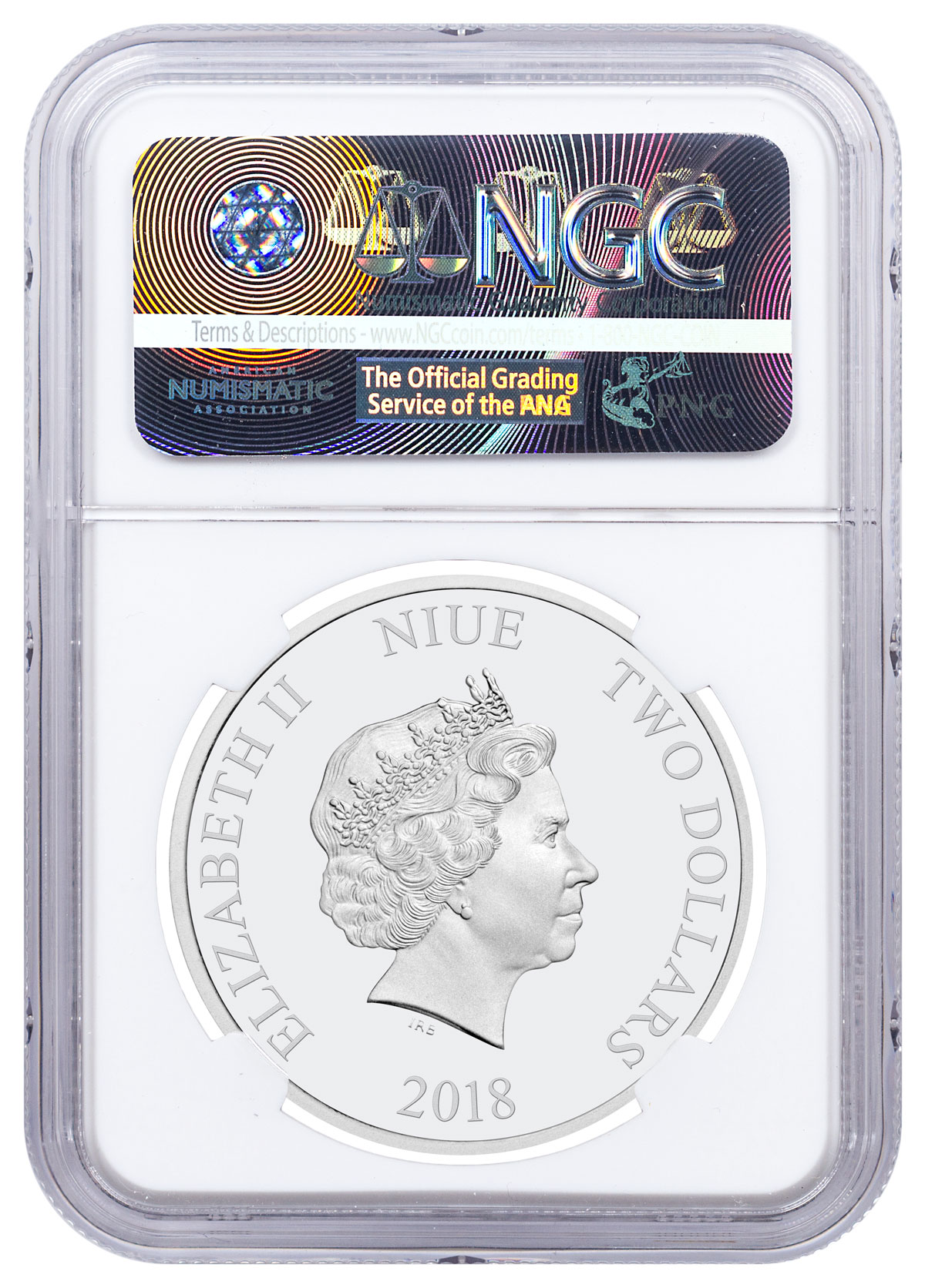 2018 Niue Space Invaders 1 oz Silver Lenticular PF $2 Coin NGC PF69 UC SKU52683