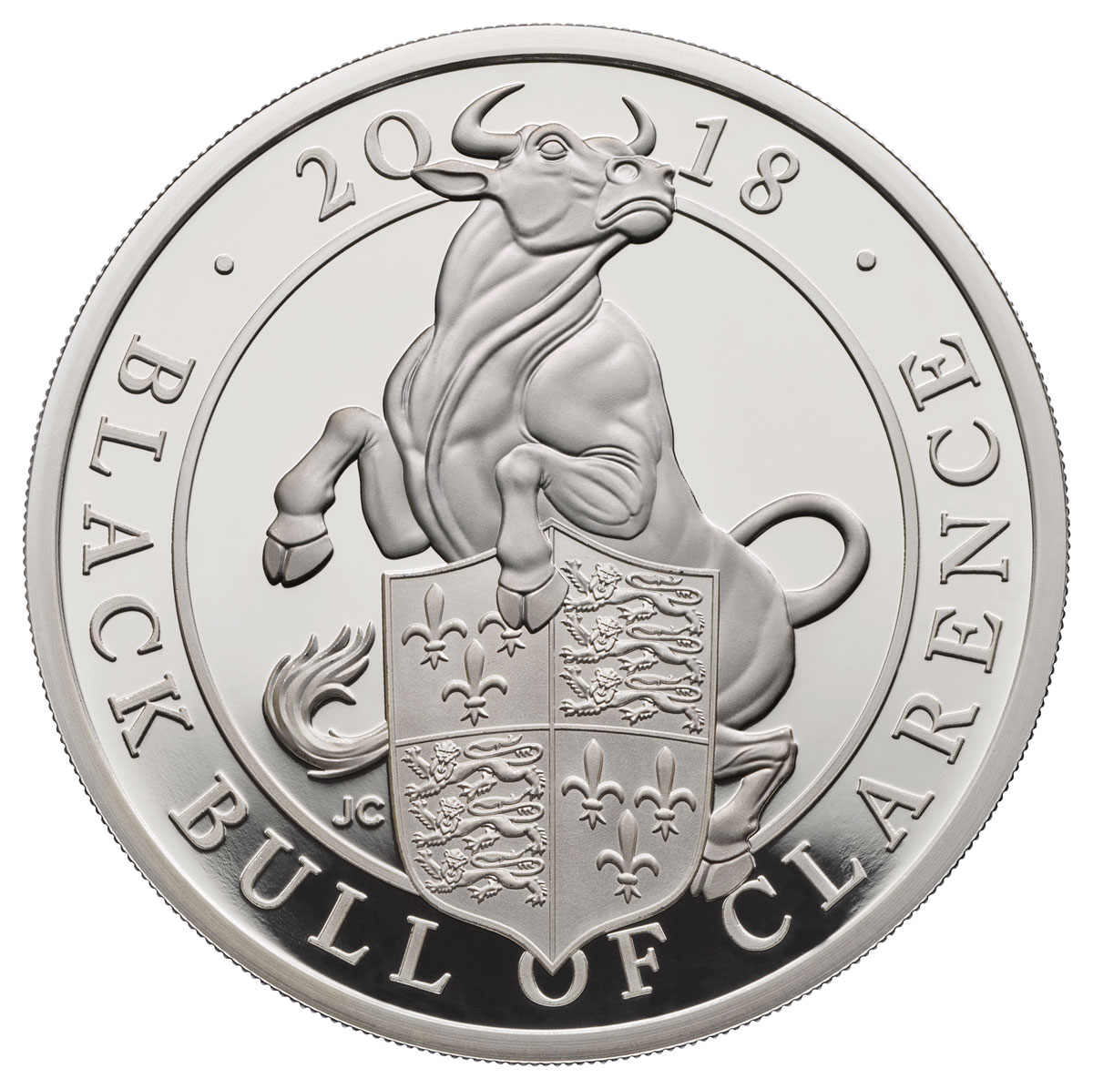 2018 Great Britain 1 oz Silver Queen's Beasts - The Black Bull of Clarence Proof £2 Coin GEM Proof OGP