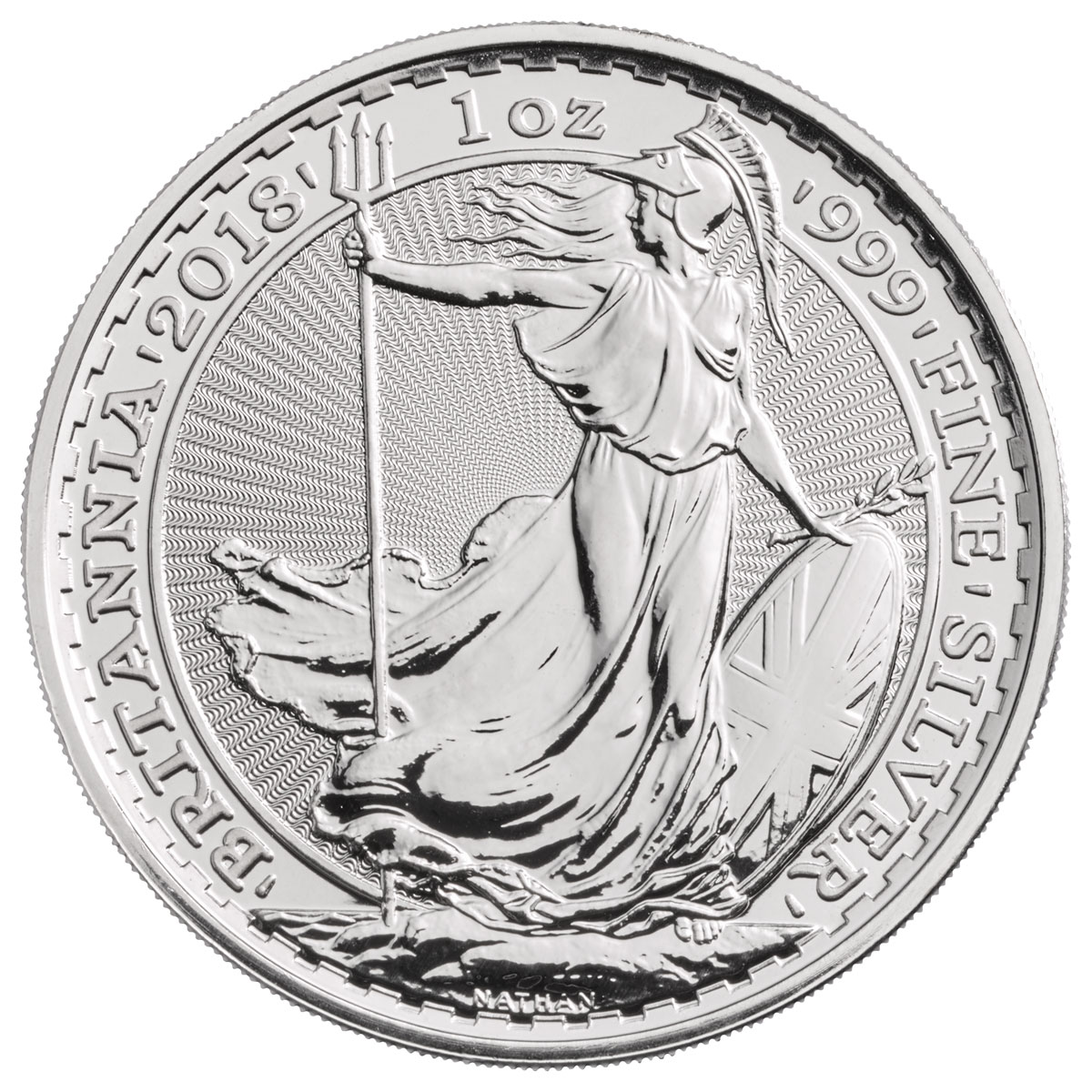 2018 Great Britain 1 Oz Silver Britannia 163 2 Coin Gem Bu