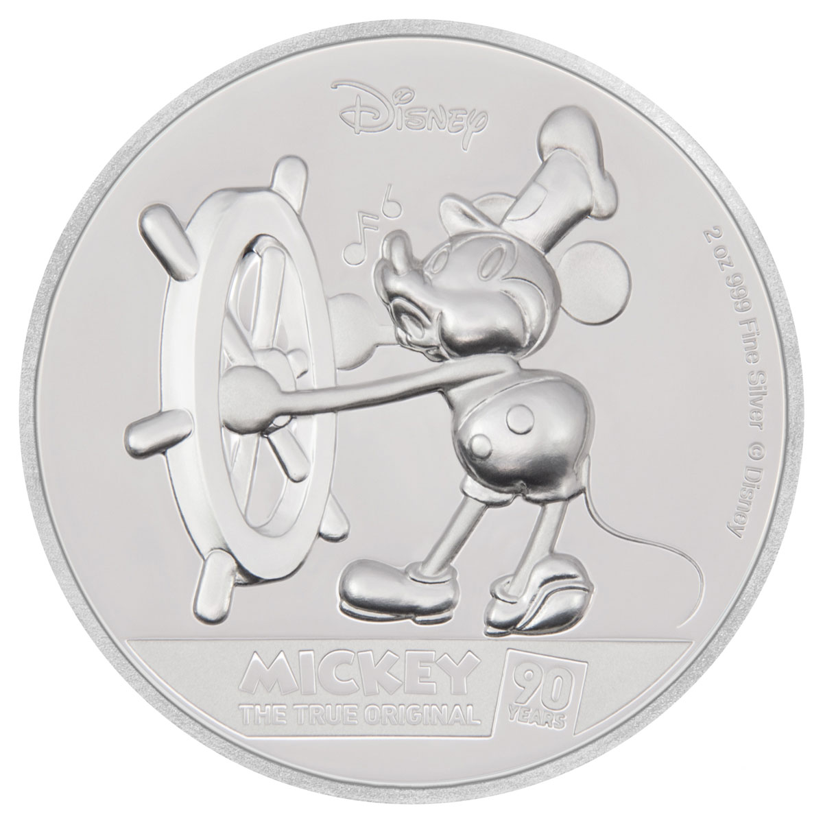 2018 Niue Mickey Mouse 90th Anniversary Ultra High Relief 2 oz Silver Proof $5 Coin GEM Proof OGP