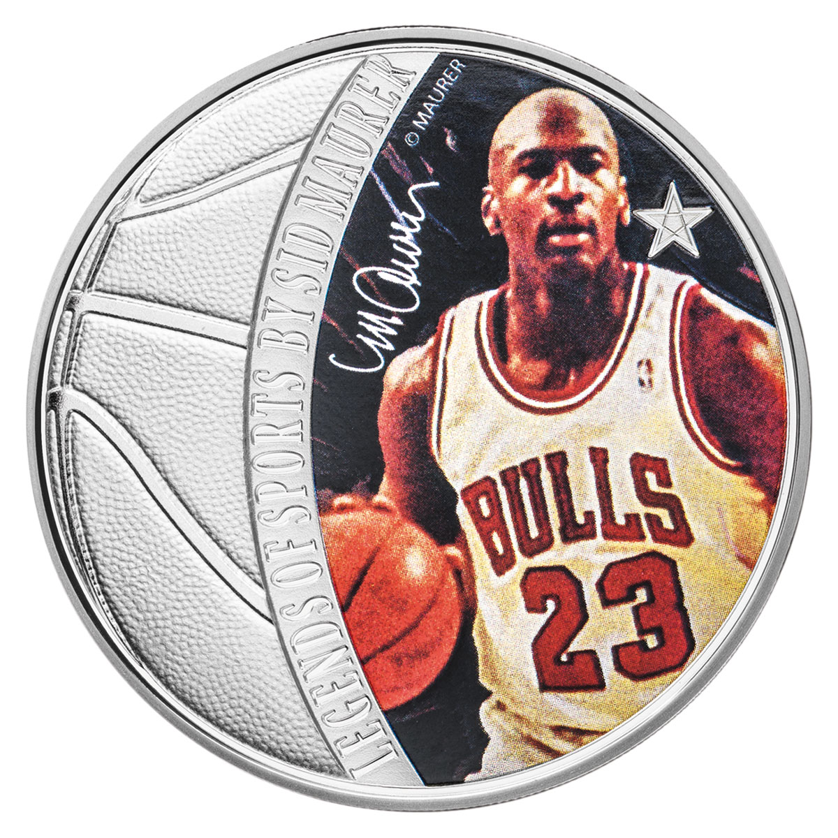 2018 Solomon Islands Legends of Sports - Michael Jordan 1 oz Silver Colorized Proof $5 Coin GEM Proof OGP