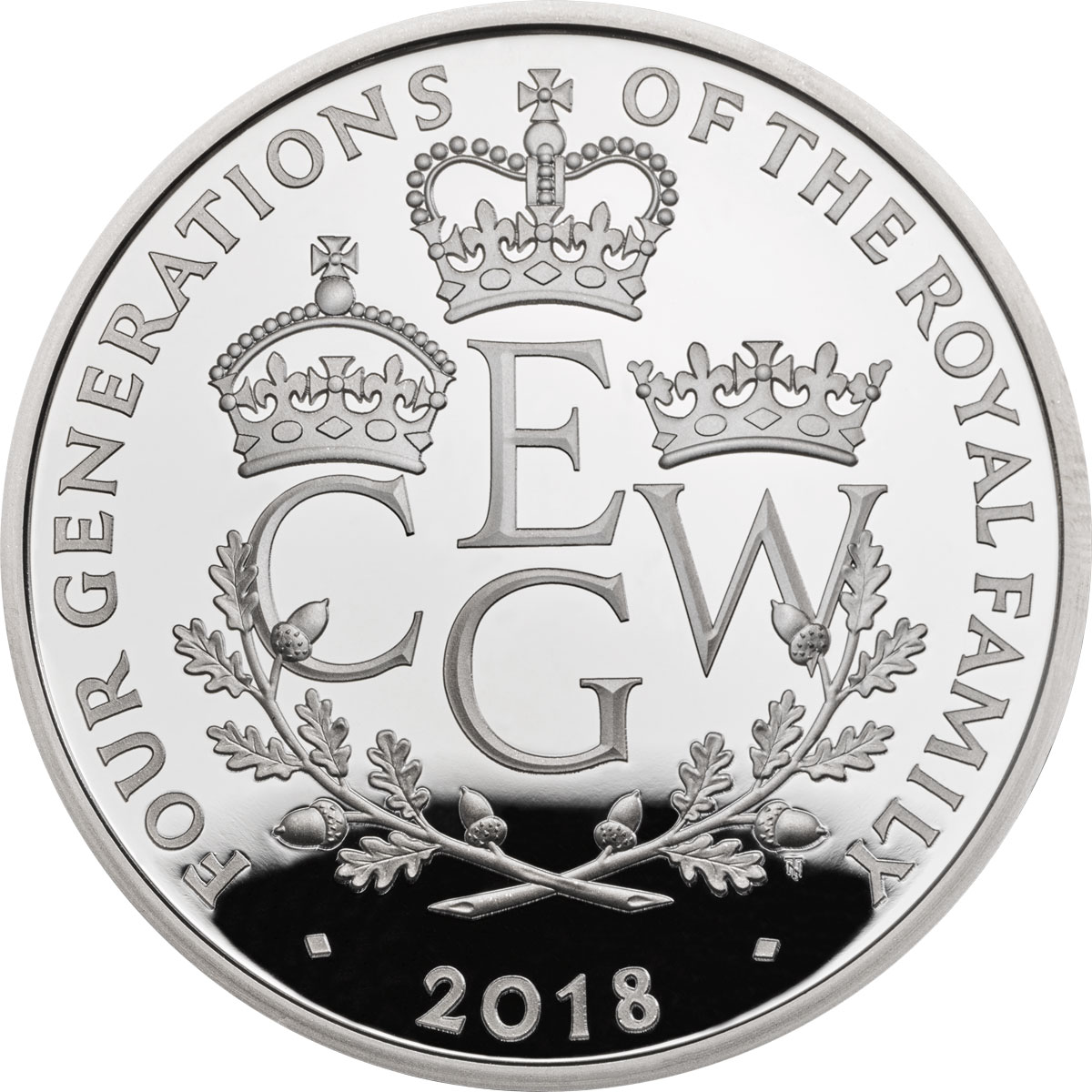 2018 Great Britain Four Generations of Royalty Piedfort Silver Proof £5 Coin GEM Proof