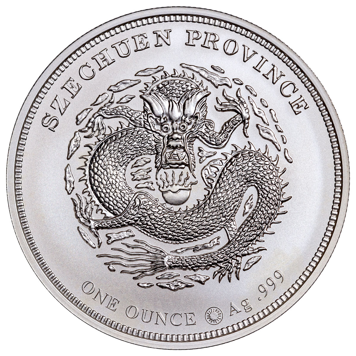 2018 Smithsonian Charles Barber's Dragon Pattern 1 oz Silver Medal GEM BU