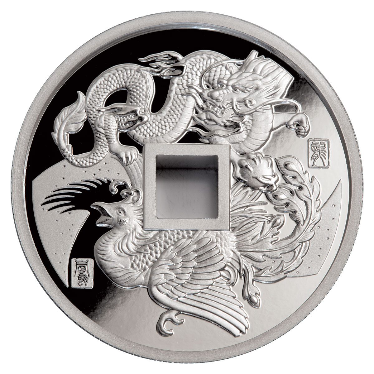 2018 China Dragon Amp Phoenix 1 Oz Silver Proof Medal Gem