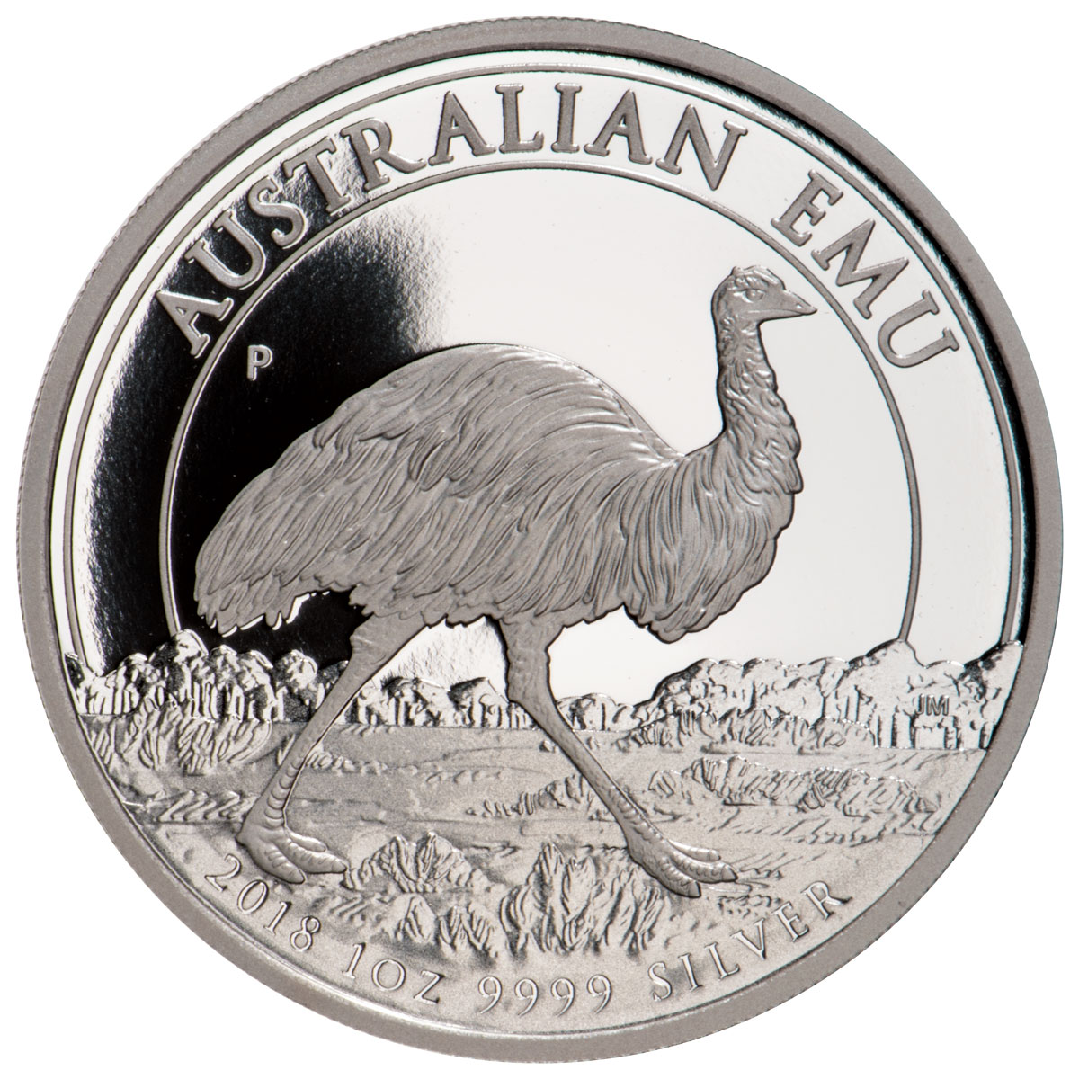 2018-P Australia 1 oz Silver Emu Proof $1 Coin GEM Proof
