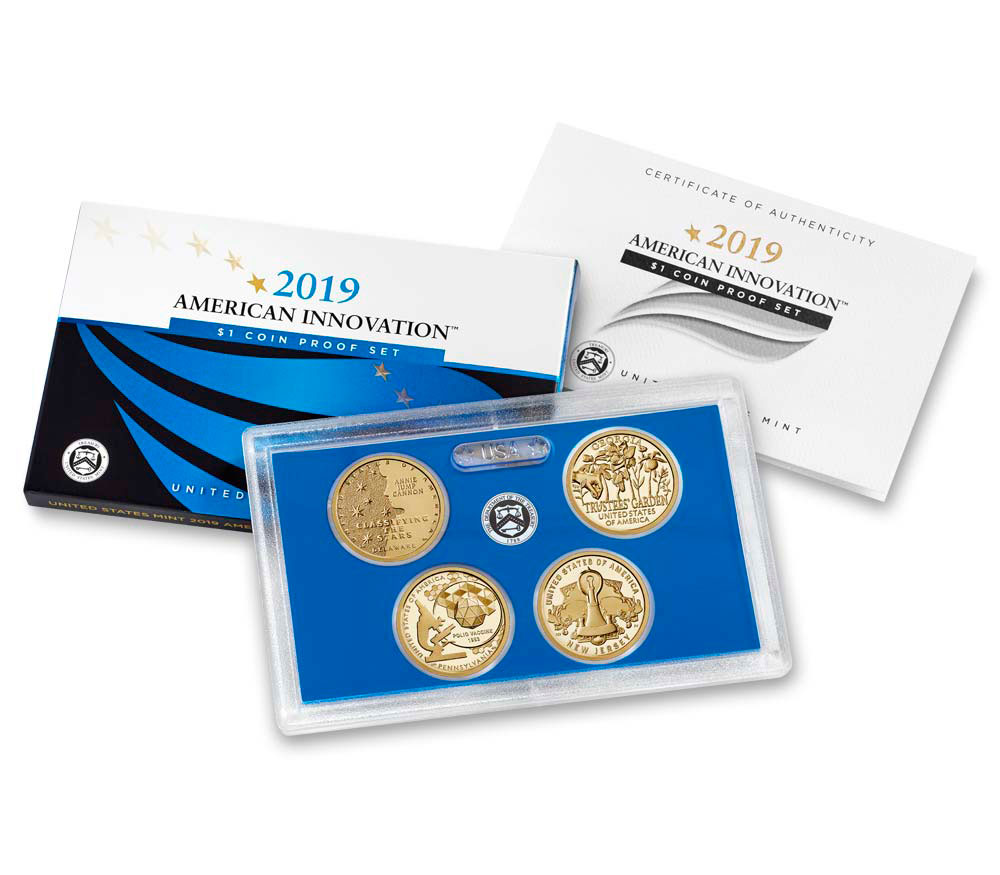 2019-S American Innovation 4-Coin Dollar Proof Set