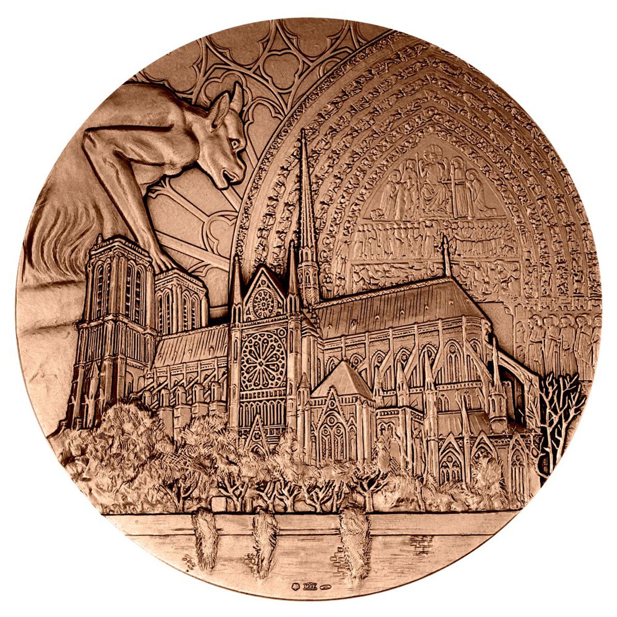 2019 France Notre Dame Cathedral Reconstruction Bronze Medal GEM BU