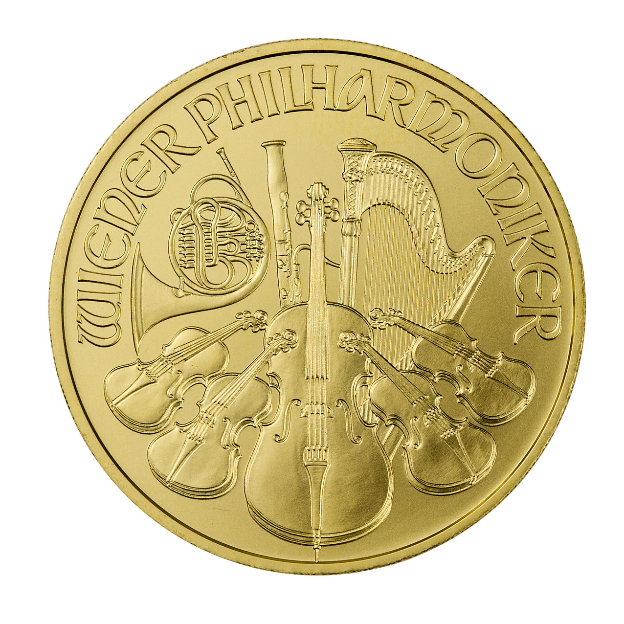 2019 Austria 1/10 oz Gold Philharmonic €10 Coin GEM BU