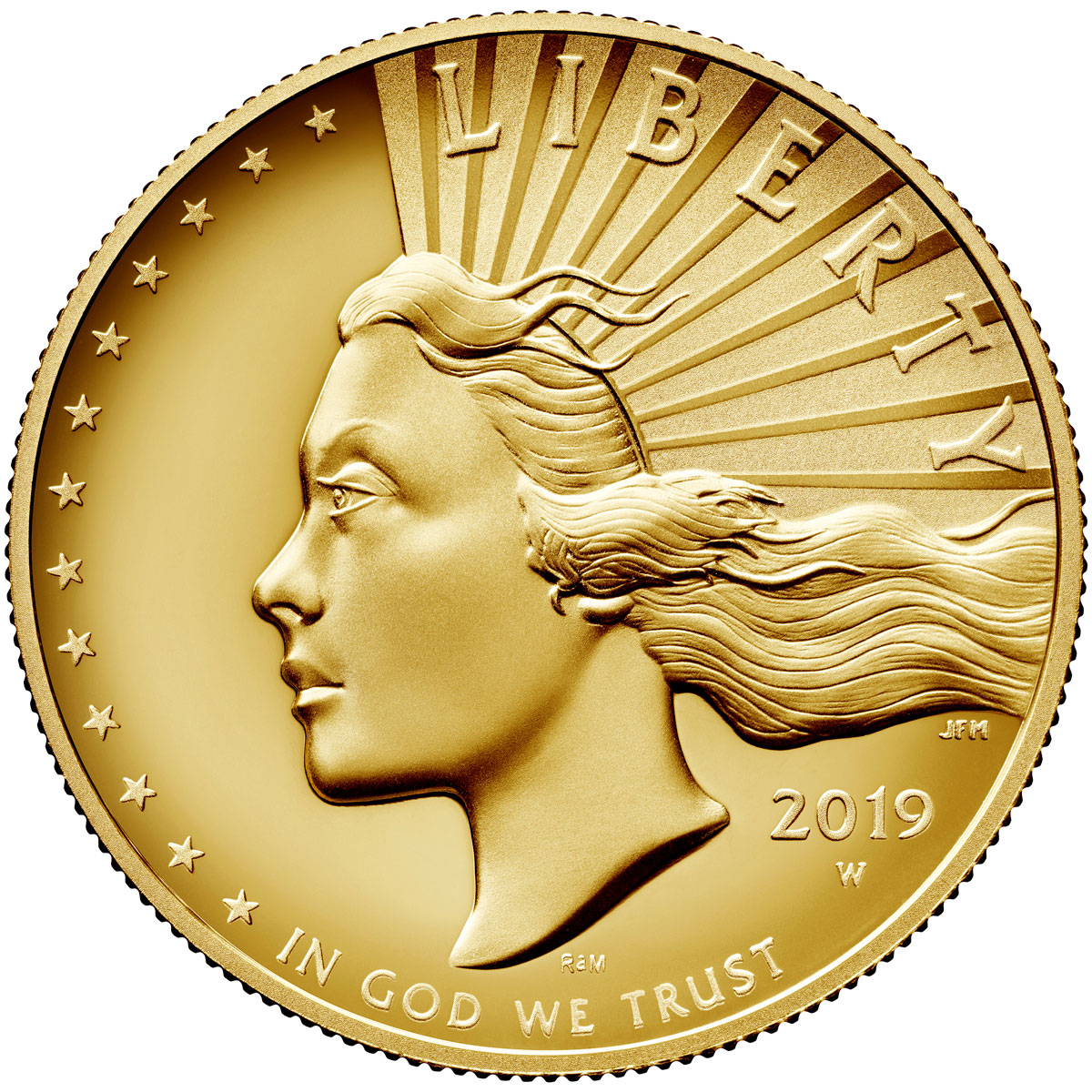 2019-W American Liberty Enhanced Finish High Relief $100 1 oz. Gold Specimen Coin OGP