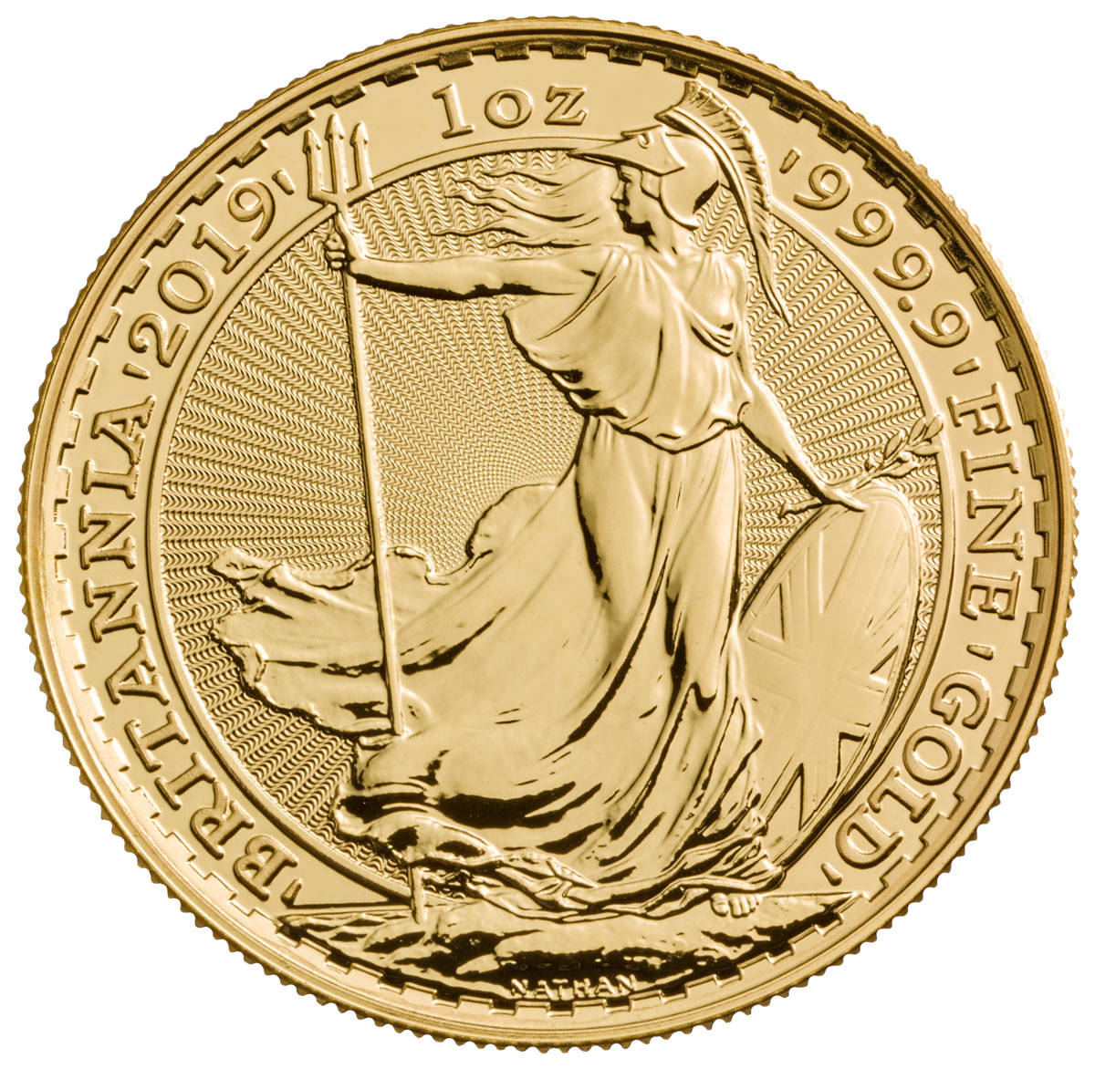 2019 Great Britain 1 oz Gold Britannia £100 Coin GEM BU