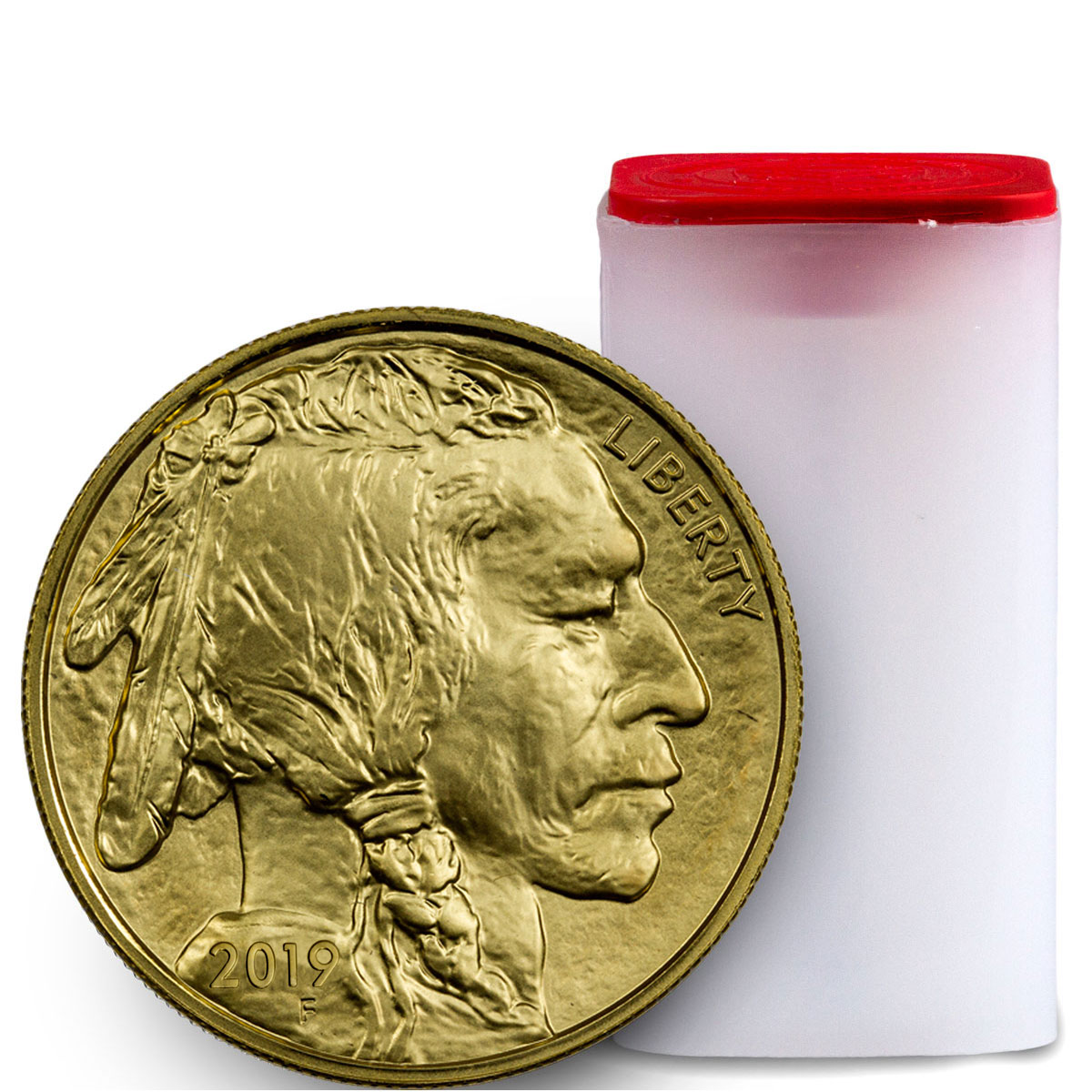 Roll of 20 - 2019 1 oz Gold Buffalo $50 Coins GEM BU