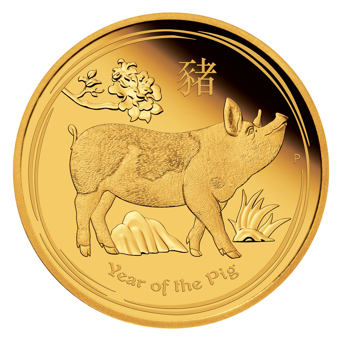 2019 Australia Year of the Pig 1/10 oz Gold Lunar (Series 2) Proof $15 Coin GEM Proof