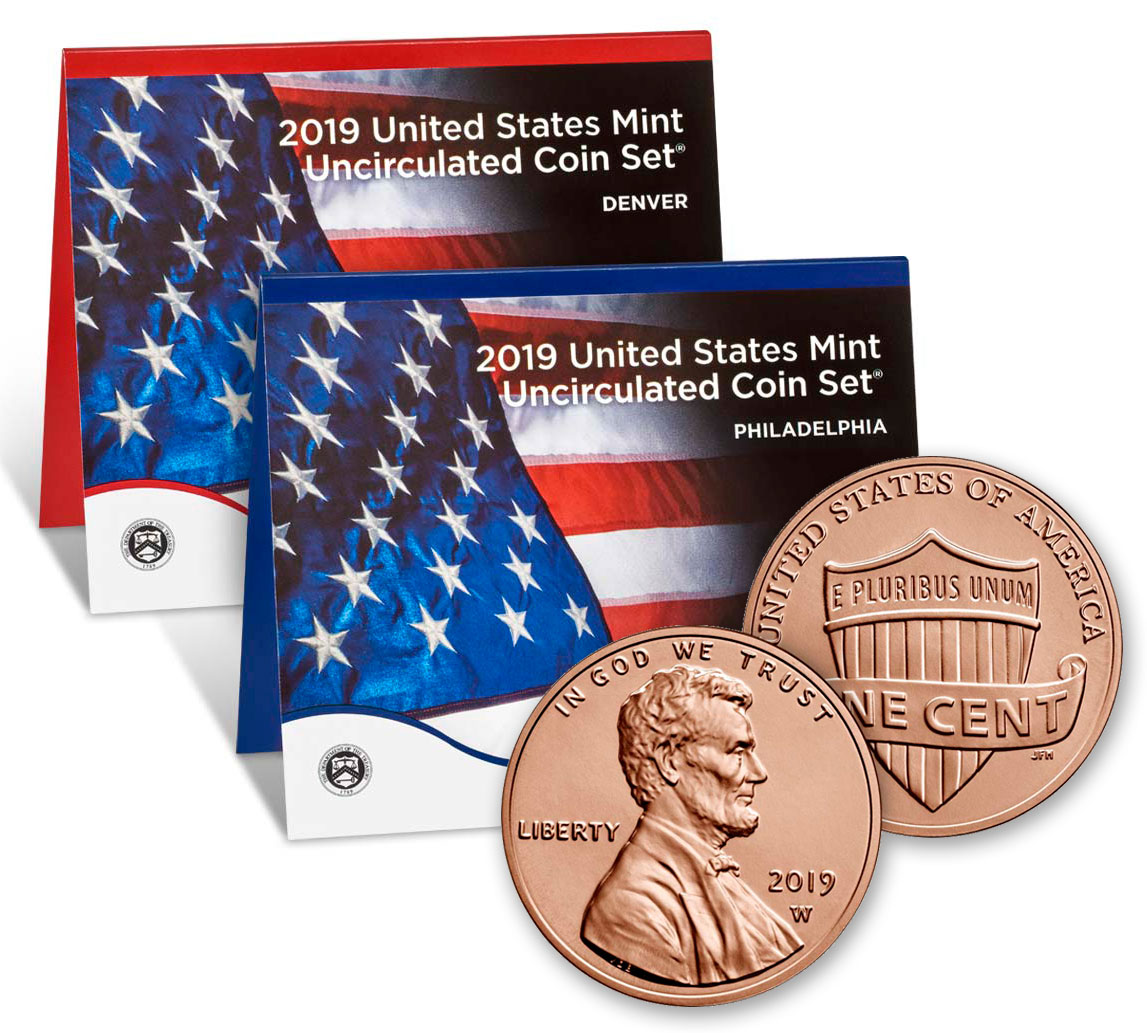 2019 U.S. Mint Set + 2019-W Uncirculated Lincoln Cent GEM Unc OGP