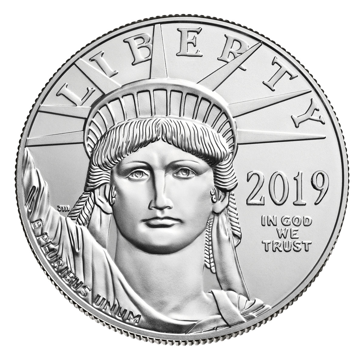 2019 1 oz Platinum American Eagle $100 GEM BU