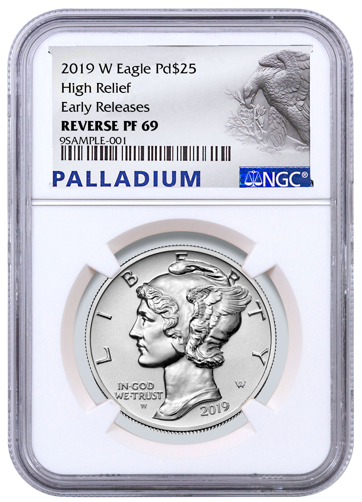 2018-W 1 Ounce Proof Palladium Eagle Original Mint Packaging w//Capsule No Coin