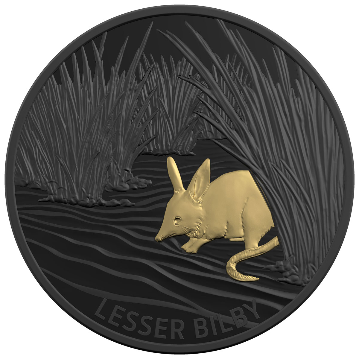 2019 Australia Echoes of Australia - Lesser Bilby 1 oz Silver Nickel-Plated Proof $5 Coin GEM Proof OGP