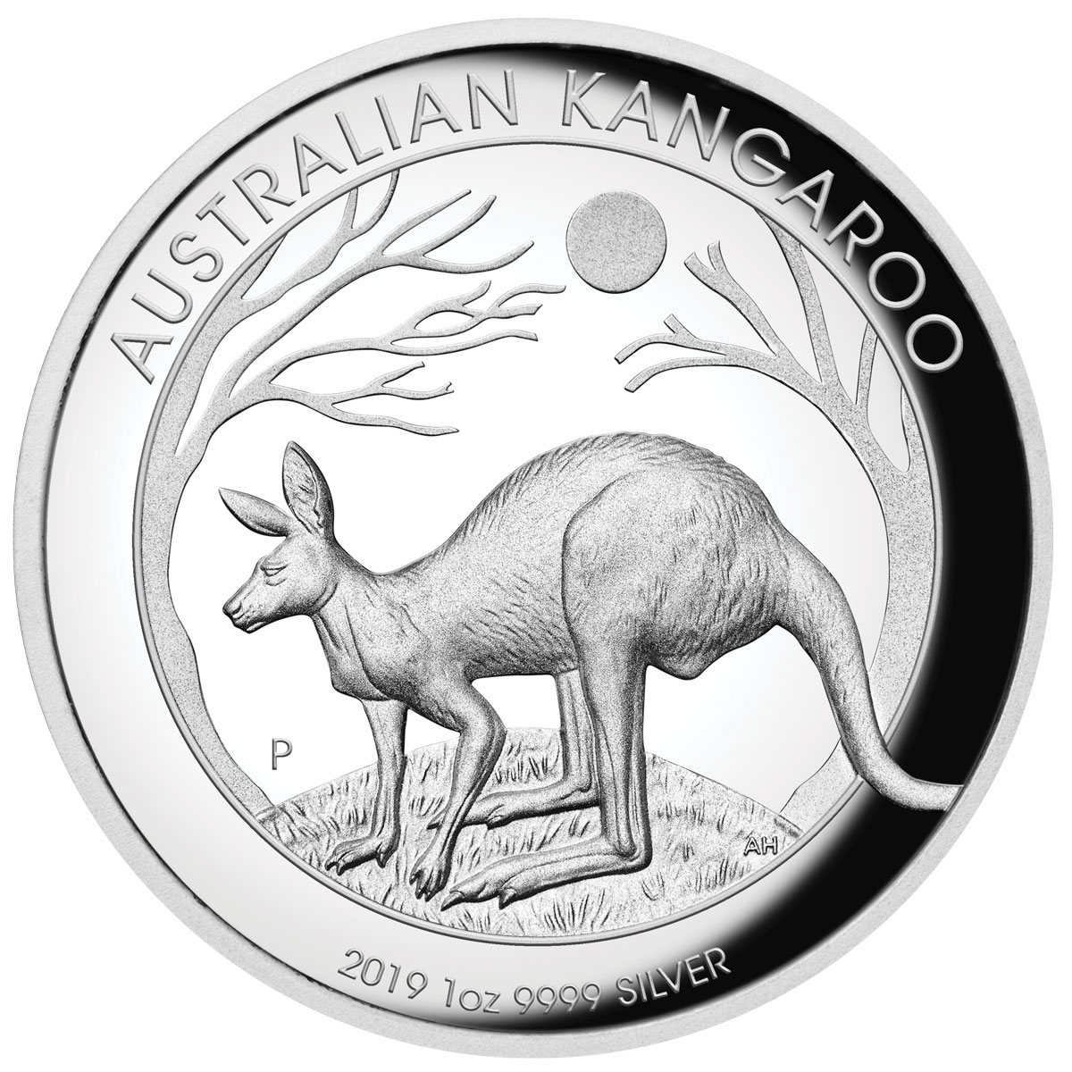 2019-P Australia 1 oz High Relief Silver Kangaroo Proof $1 Coin GEM Proof OGP