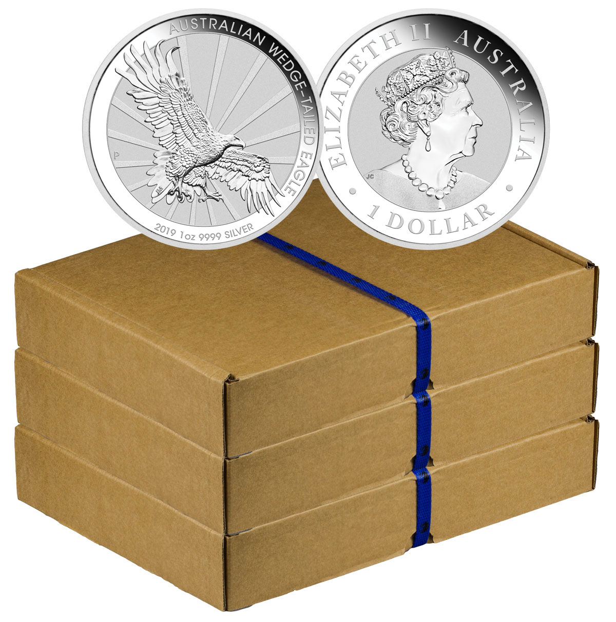 Monster Box of 300 - 2019-P Australia 1 oz Silver Wedge-Tailed Eagle $1 Coins GEM BU